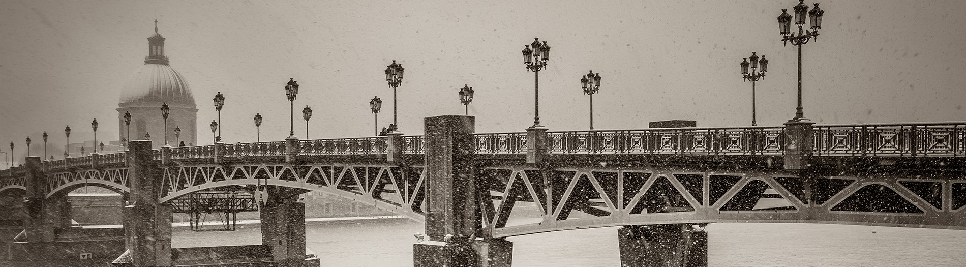Neige sur Toulouse