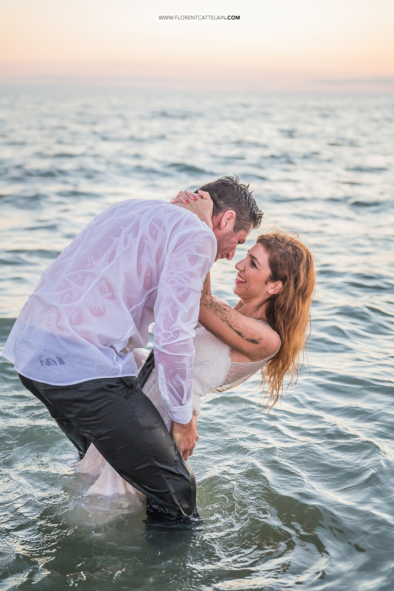 Trash the dress plage