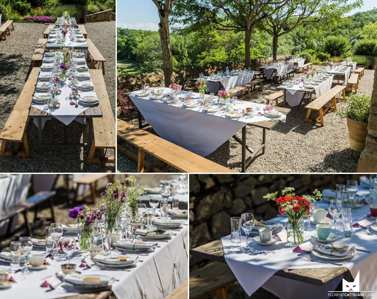 repas mariage champetre
