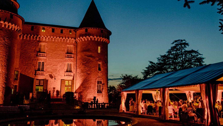 Château de Mercues la nuit